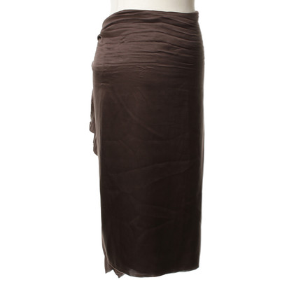 Lanvin Silk skirt in Brown