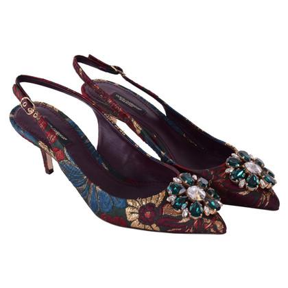 "Dolce & Gabbana Jacquard Slingback Pumps ""Bellucci"""