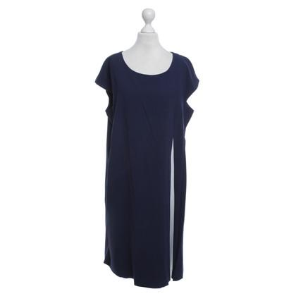 Laurèl Kleid in Blau/Weiß