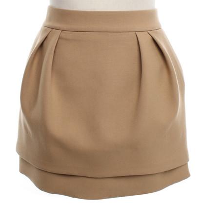 Maje Mini skirt with pleats detail