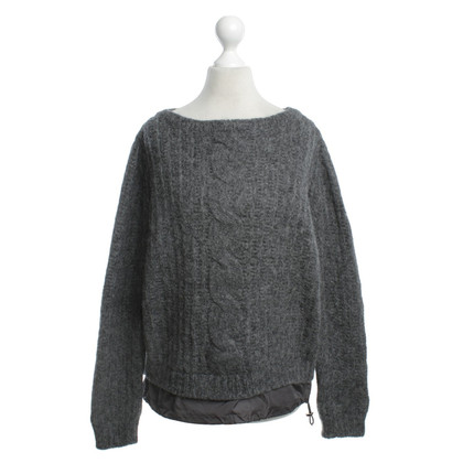 Moncler Knitted sweater in gray