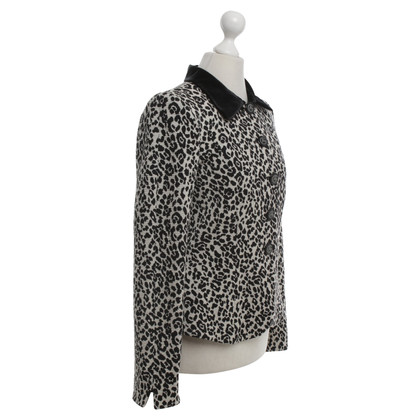 Armani Short jacket with leopard pattern