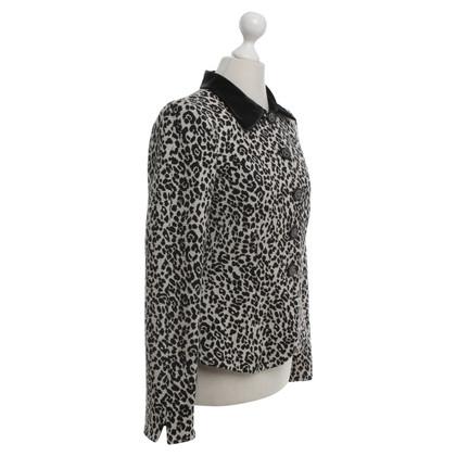 Armani Giacca corta con disegno di leopardo