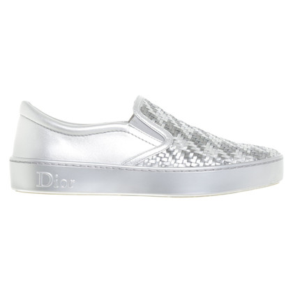 Christian Dior Zilverkleurige sneakers