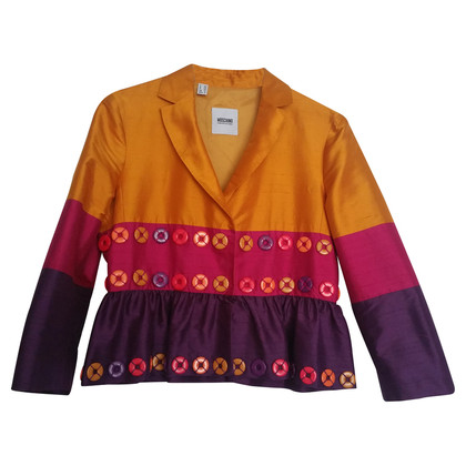 Moschino Cheap and Chic Blazer in seta con anelli colorati