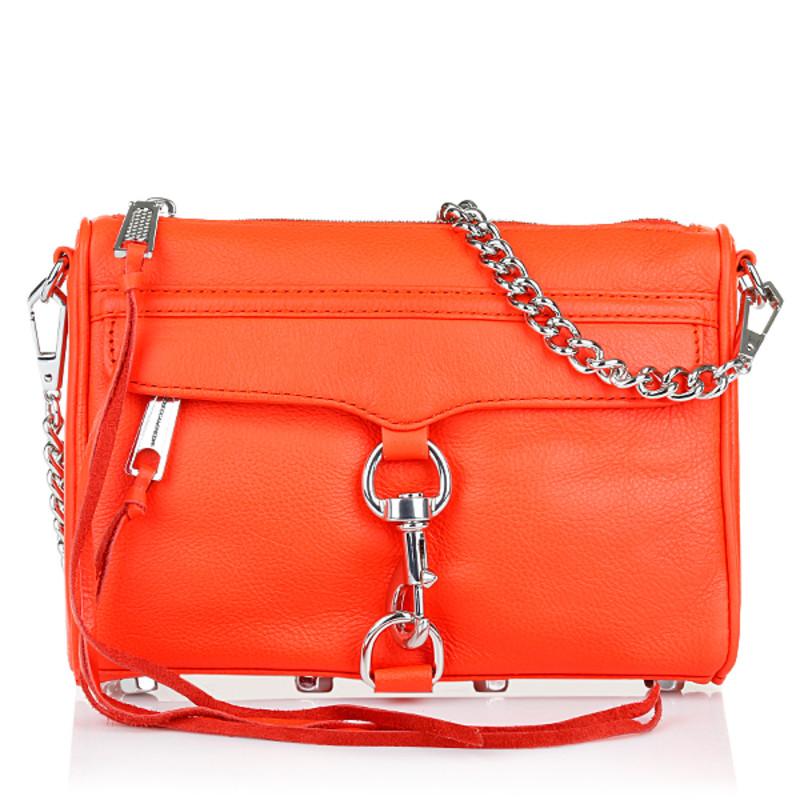 """Rebecca Minkoff """"Mini Mac Hot Orange"""" Tasche"""