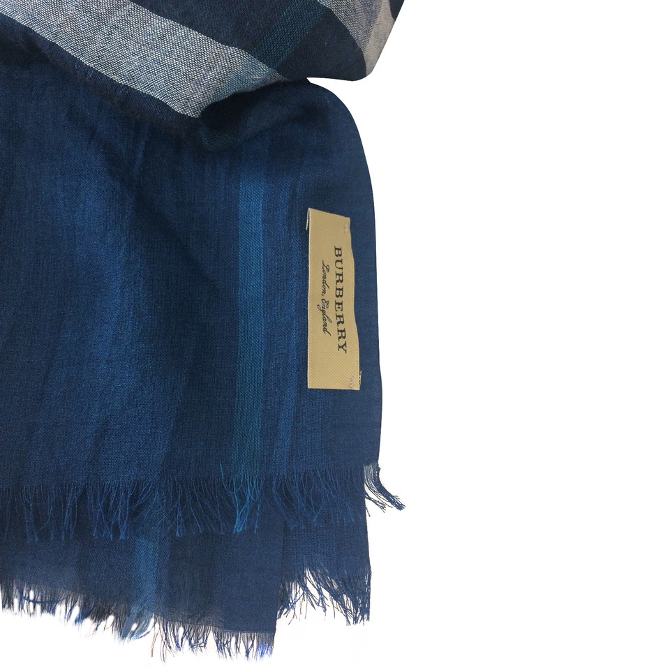 Burberry Scarf in blue, black, white - Buy Second hand Burberry ...
