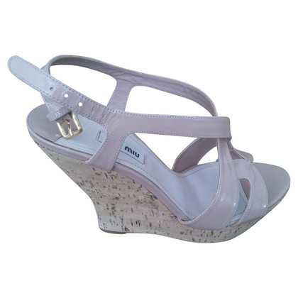 Miu Miu Open toe wedges