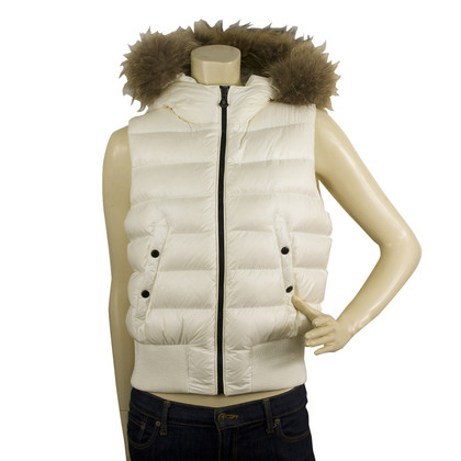 Moncler KAILA White Down Feather Gillet