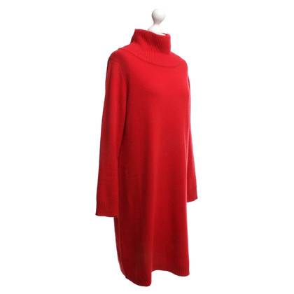 Max Mara Wollen jurk in rood