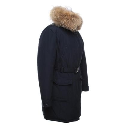 Woolrich Giù cappotto blu scuro