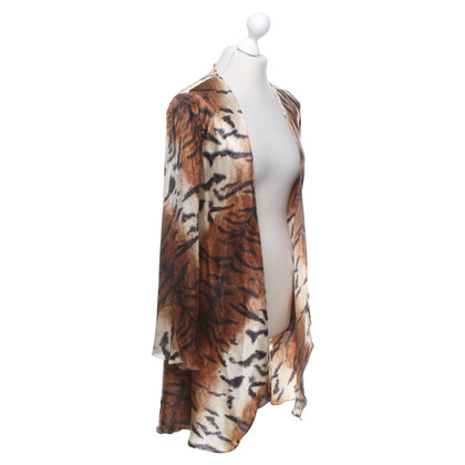 Roberto Cavalli Kimono with animal print