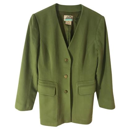 Hermès Green cashmere jacket