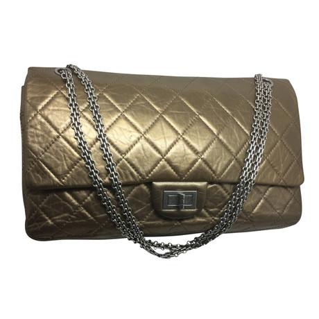 Countdown-Paket Zum Verkauf Äußerst Chanel 2.55 in Bronze aus Leder Andere Farbe HCAm9Oh