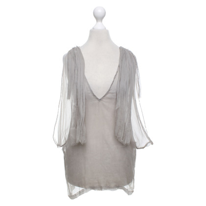Dries van Noten Top in seta grigio