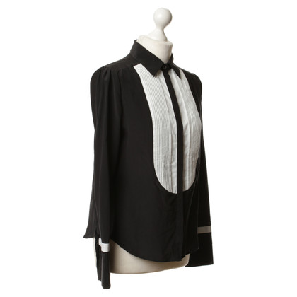 Paul & Joe Silk blouse in black and white