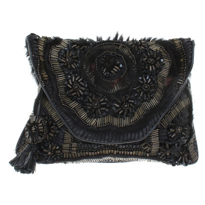 Antik Batik Shoulder bag with pony fur