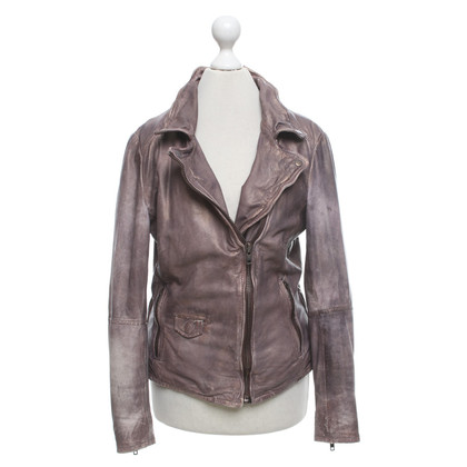 Muubaa Leather jacket in brown