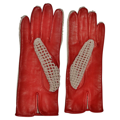 Valentino Gloves from leather/textile