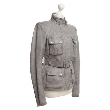 Belstaff Leather Jacket in Gray