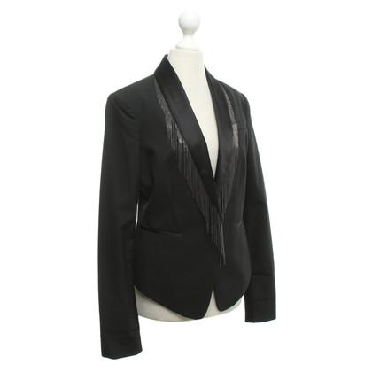 BCBG Max Azria Veste de smoking avec garniture frange