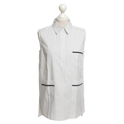 Marni Sleeveless blouse in white / grey