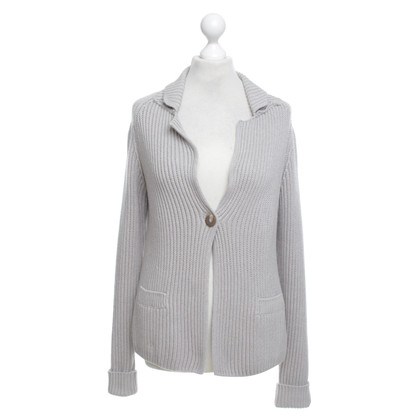 Repeat Cashmere Strickjacke in Grau