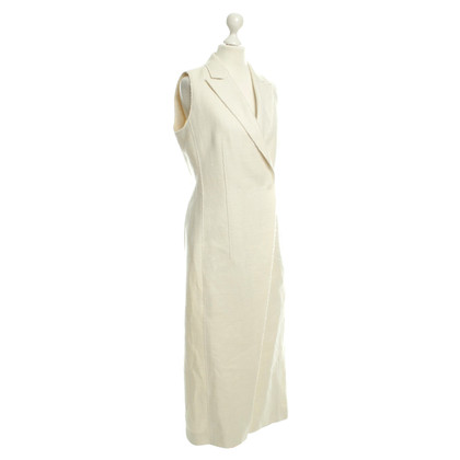 Hugo Boss Lange Weste in Creme
