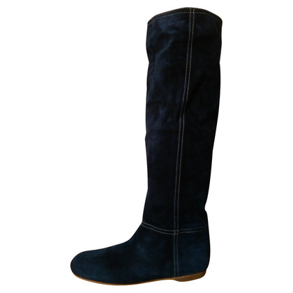 Car Shoe Suede Boots in Blauw