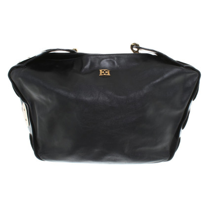 Escada Handbag in black / gold