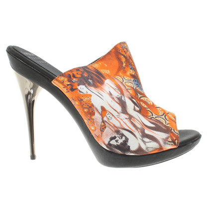 La Perla Mules with pattern