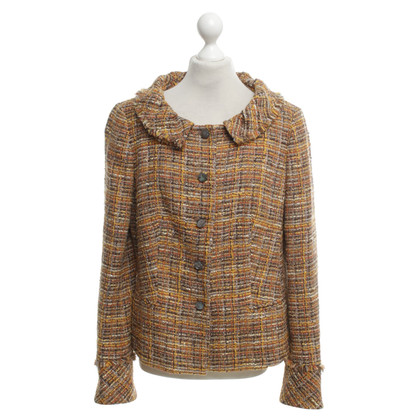 Rena Lange Bouclé blazer in brown / orange / curry