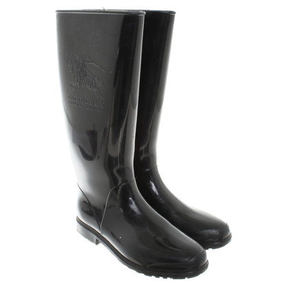 burberry scarf outlet online 6y8o  Burberry Rubber boots in black