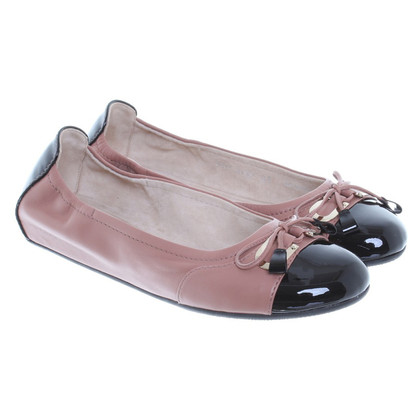 Bally Ballerina's in nude/zwart