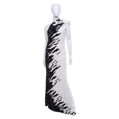 Escada Robe de soirée en noir / blanc