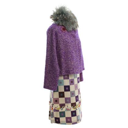 Marni Kostuum met bontkraag