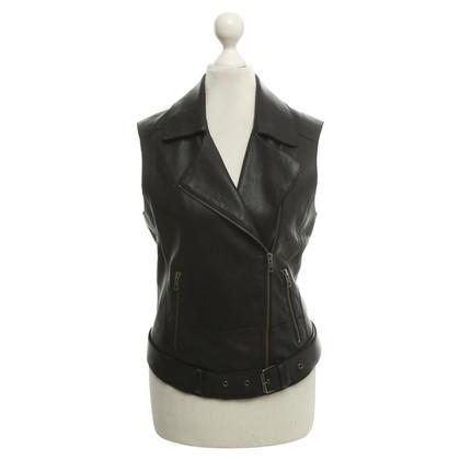 Liebeskind Berlin Leather vest in black