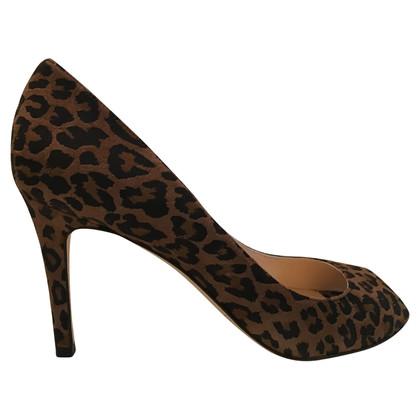 L.K. Bennett Leopard peep toes