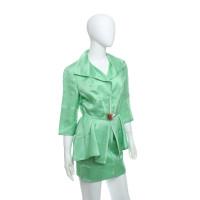 Mugler Silk kostuum in het groen