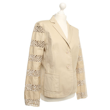 Escada Cotton jacket with lace pattern