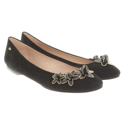 Dsquared2 Wild leather ballerinas in black