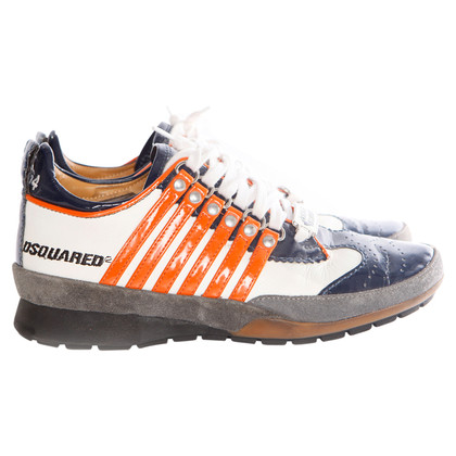 Dsquared2  Sneakers in wit/blauw/oranje