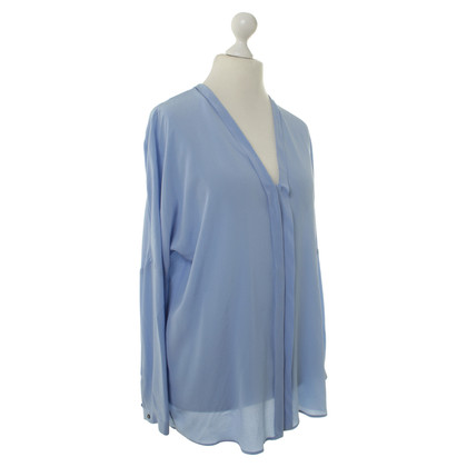 Marc Cain Silk blouse in pale blue