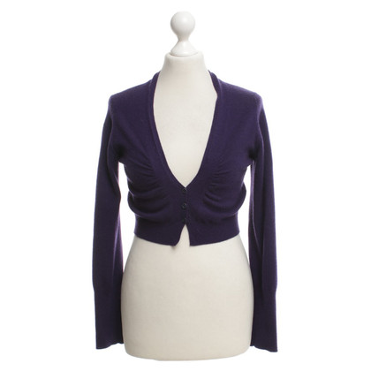 Brunello Cucinelli Kurze Strickjacke in Violett