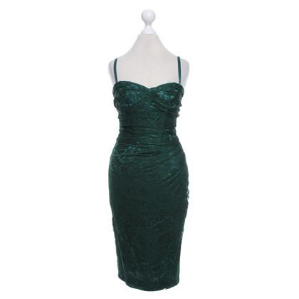 Dolce & Gabbana Kanten jurk in dennengroen