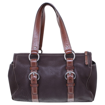 Coach Tote in dark brown