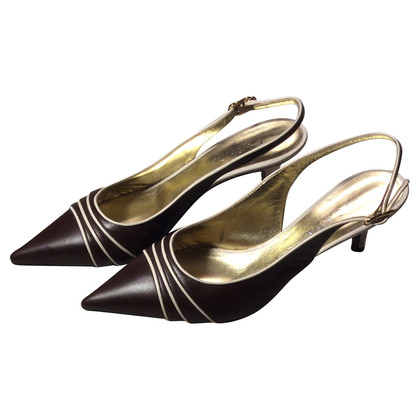 Escada Sling backs in brown/beige