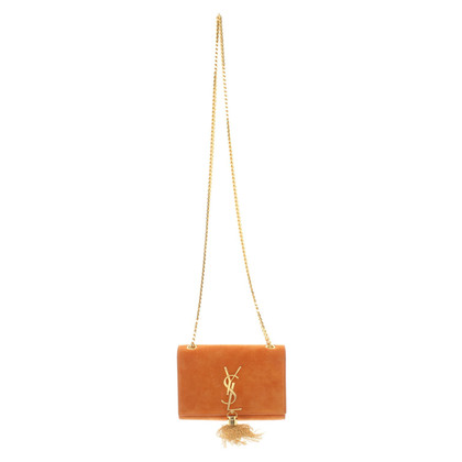 "Saint Laurent ""Kate Satchel Small"" in Orange"