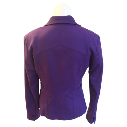 Versace Purple Blazer emphasizes the waist