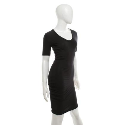 T by Alexander Wang Asymmetrische jurk in zwart